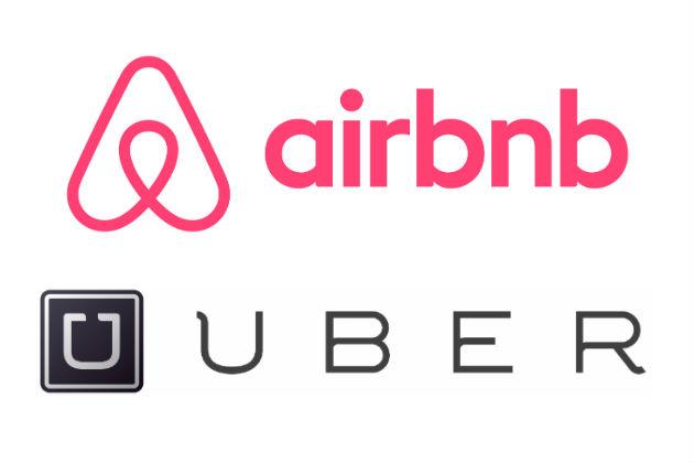 экономика совместного потребления, Uber, Airbnb