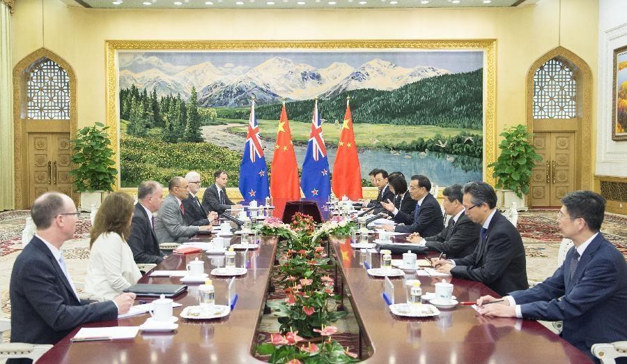 Китай, Новая Зеландия