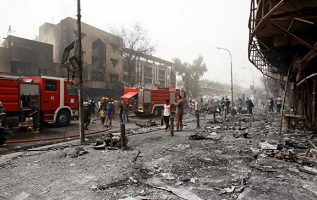 траур по погибшим, Багдад, Ирак, террористическая атака