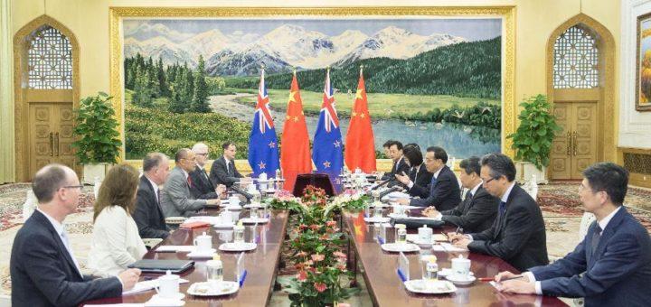 Китай, Новая Зеландия, соглашение о свободной торговле, переговорный процесс