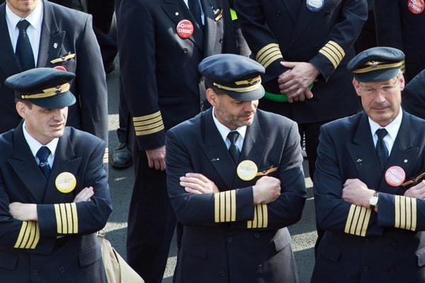 авиакомпания Lufthansa, страйк пилотов, рейс