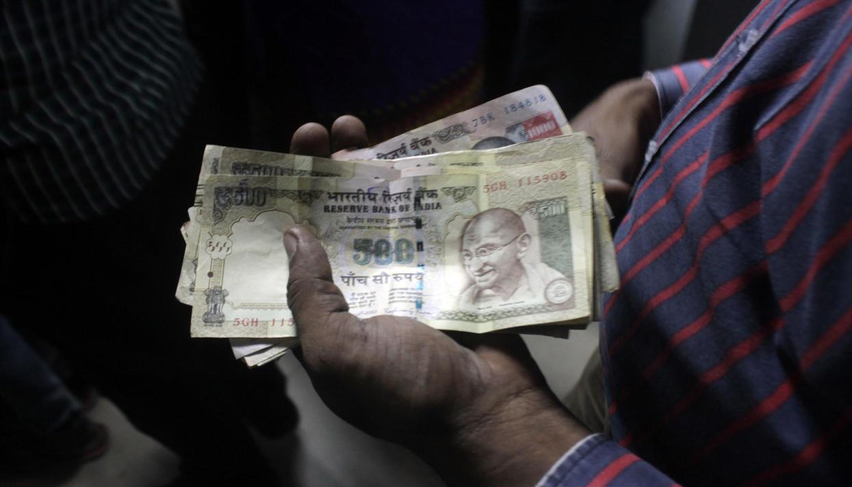 крупные банкноты, коррупция, Индия