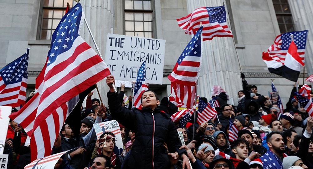 протест, День без иммигрантов, США, Трамп, иммигранты