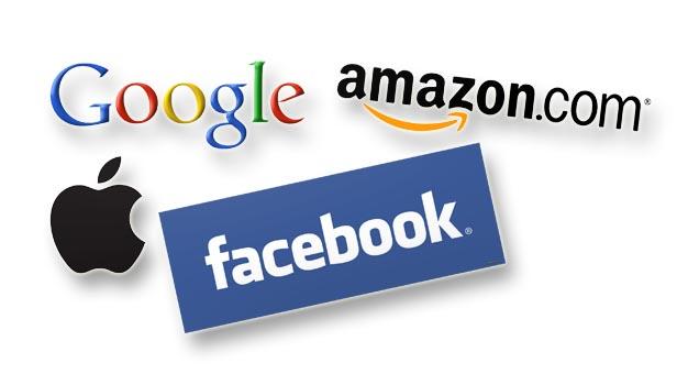 Google, Apple, Facebook, Amazon, фондовые рынки, рыночная капитализация