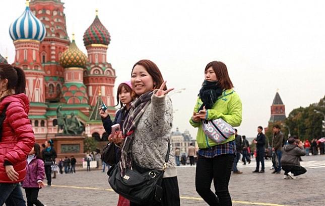 туристы из Китая, Россия