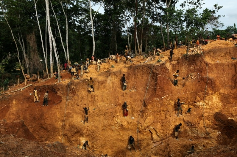 горная промышленность, добыча ресурсов, Гана