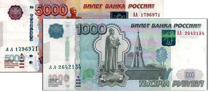 Россия, новые банкноты