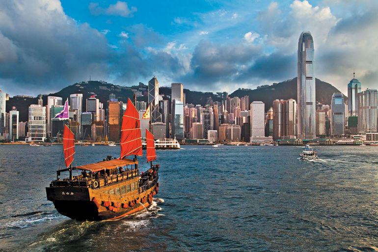 Гонконг, Китай, туристы