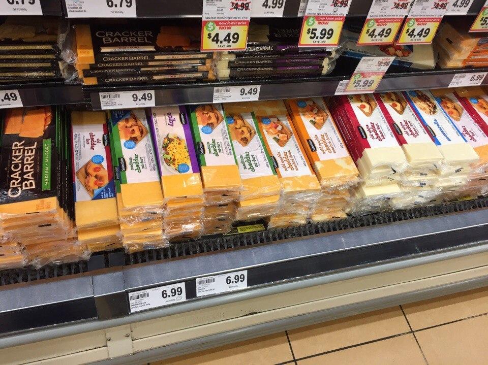 Канады, цены на продукты