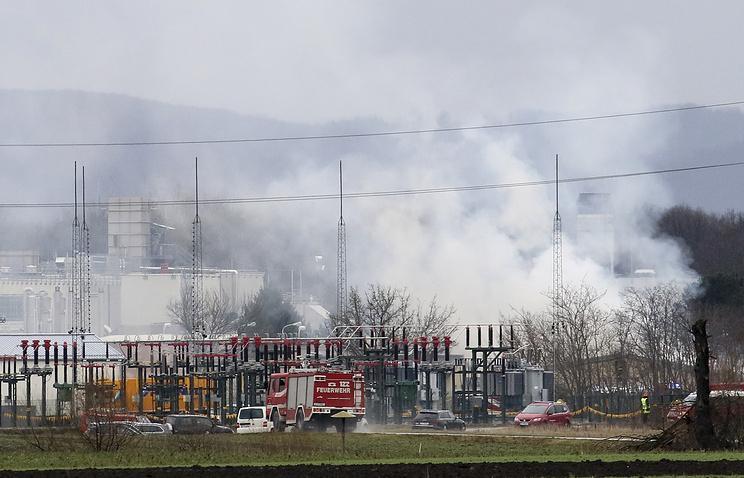 поставка газа, Австрия, авария