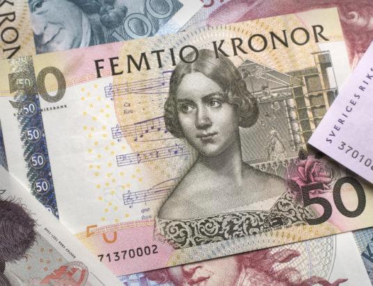 Швеция, наличные деньги