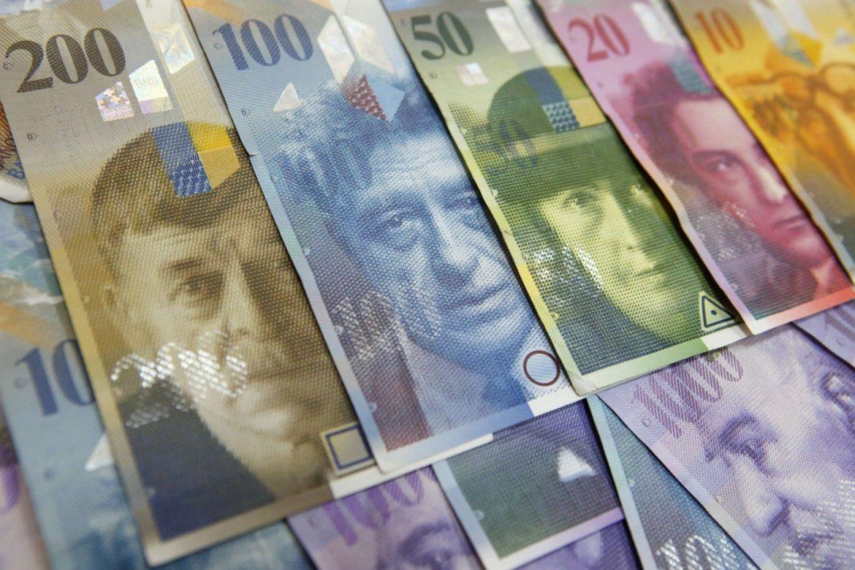швейцарские франки, купюры, банкноты, Швейцария