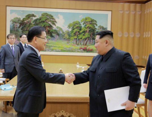 Северная Корея, Ким Чен Ын, делегация, встреча, Южная Корея