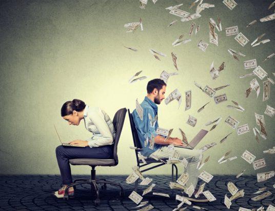 крупные компании, оплата труда, гендерный разрыв