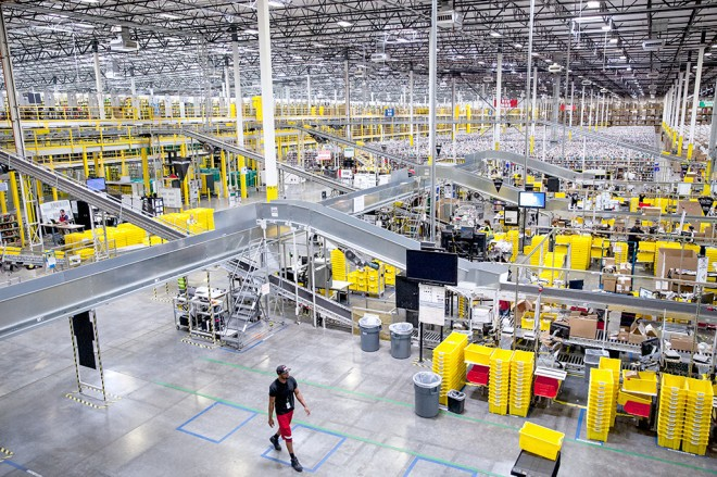 Amazon, склад, работа, условия