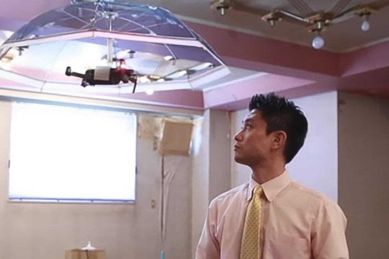 зонт от солнца, летающий зонт, дрон, стартап, Asahi Power Service, Япония