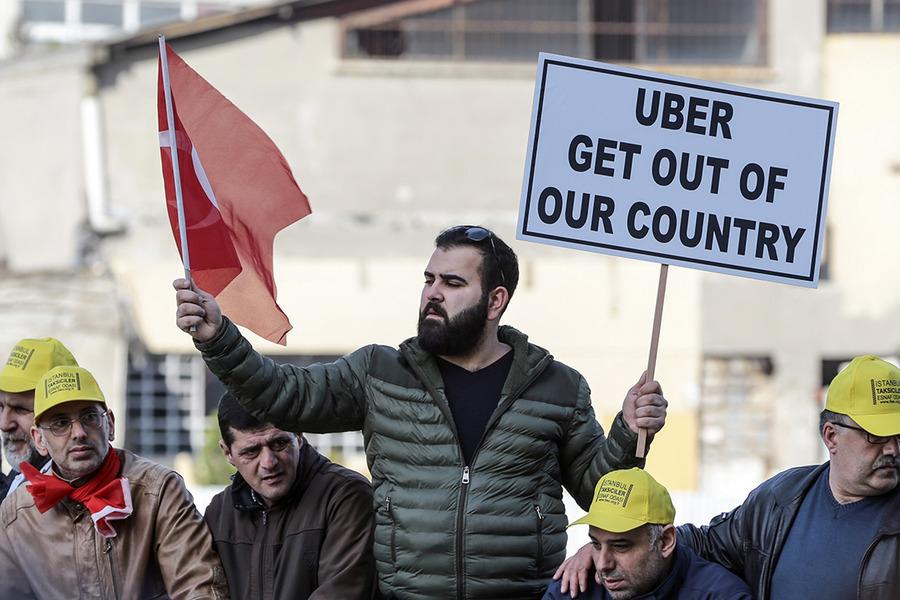 Uber, сервис поездок, Тайип Эрдоган, Стамбул, Турция