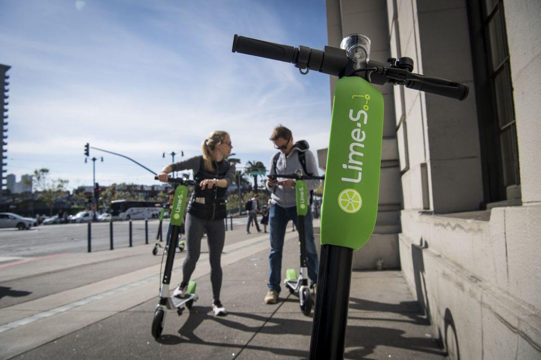 Uber, Lime, электрический скутер