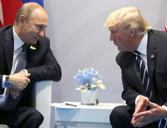 Путин и Трамп, встреча президентов, президенты России и США, опоздание