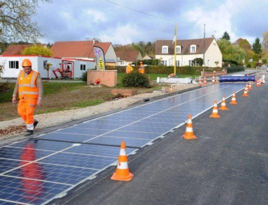 умные дороги, дороги в Китае, дороги в Европе, дороги из солнечных батарей