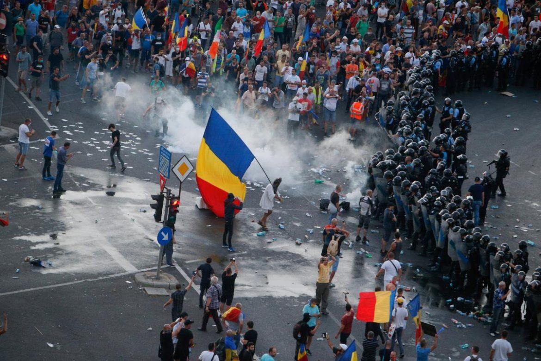 протесты в Румынии, Румыния Бухарест, массовые протесты