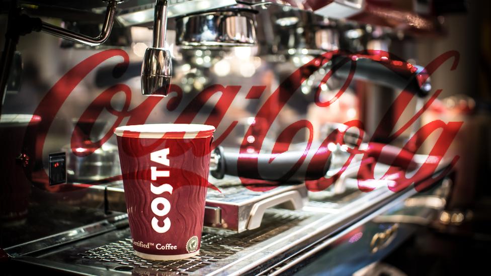 Coca Cola, сеть кофеен, сеть кофеен Costa, Costa, горячие напитки, Whitbread, Великобритания