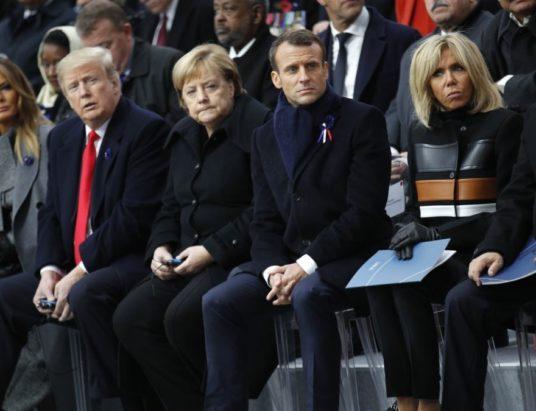 встреча Путина и Трампа в Париже, Путин Трамп Макрон, лидеры государств, Парижский форум, НАТО и ЕС