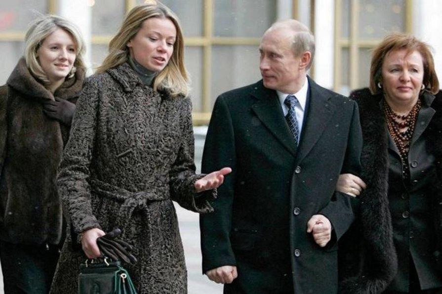 Путин с дочкой