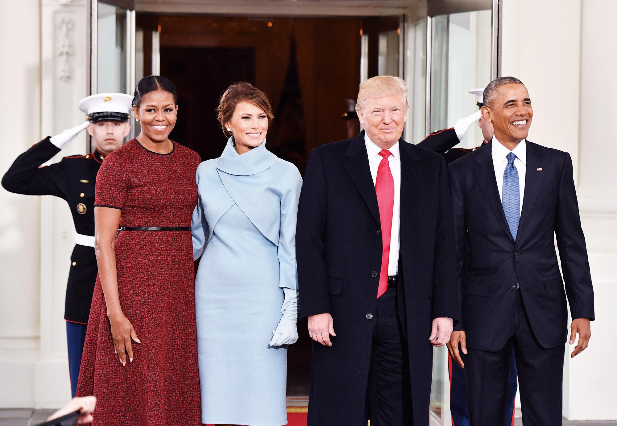 Барак Обама и Дональд Трамп на пороге Белого дома