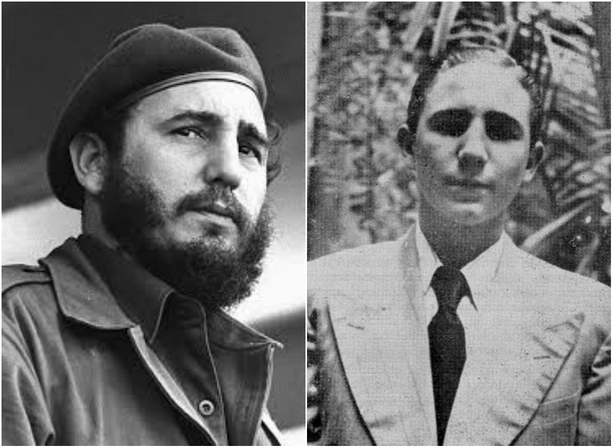 Фидель Кастро с усами и без усов