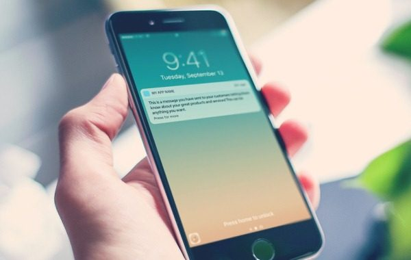 Функция отображения сообщений на неактивном экране