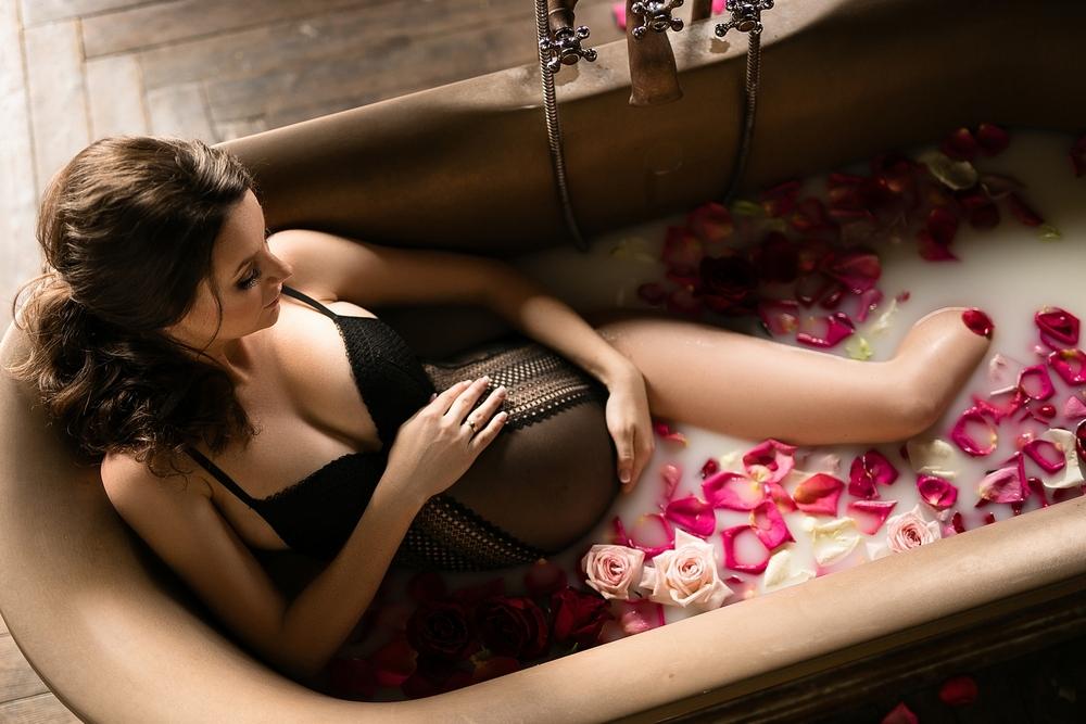 Фотосессия в ванной комнате