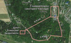 Дача Зюганова на карте