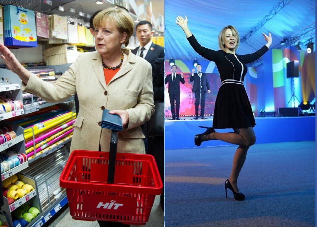 Меркель и Захарова