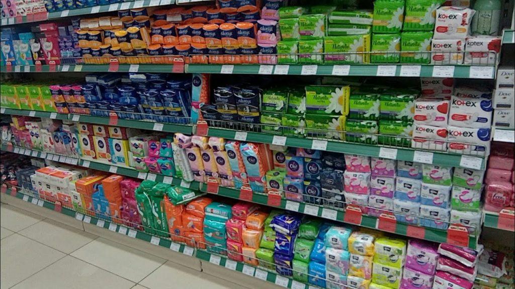 Прокладки в магазине