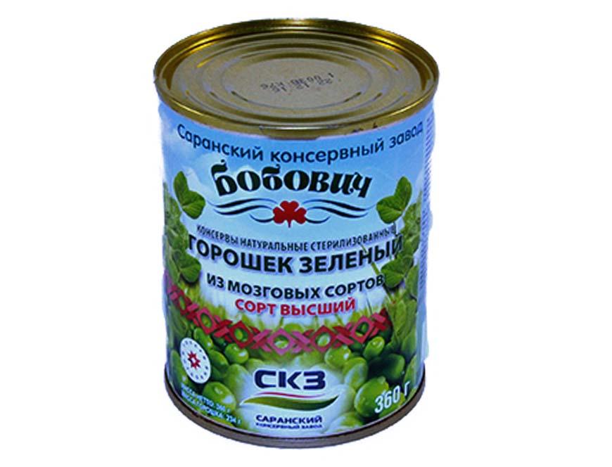 зеленый горошек Бобович