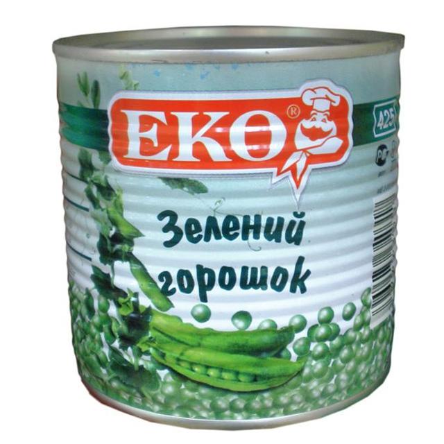 зеленый горошек эко