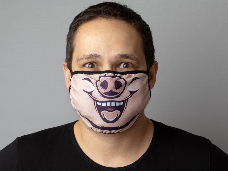 маска с мордой поросенка