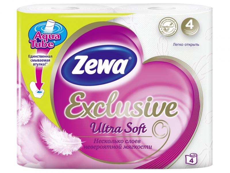 туалетная бумага «Zewa Exclusive Ultra Soft