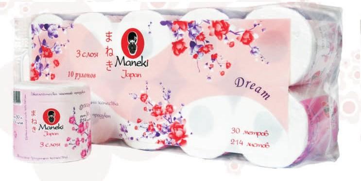 туалетная бумага Maneki