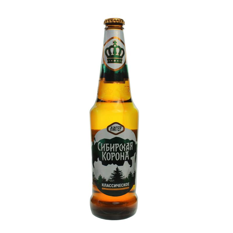 пиво Сибирская корона, светлое