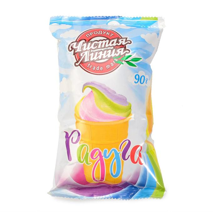 мороженое чистая линия радуга