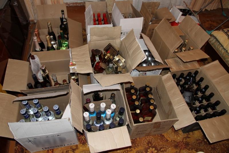 ящики с алкоголем