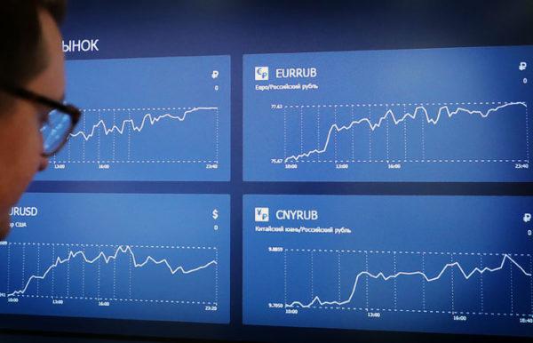 график роста и падения акций