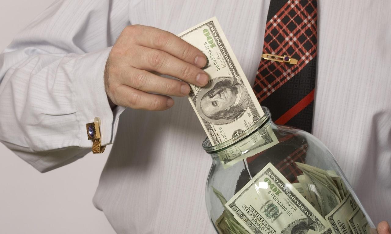 доллары в банку