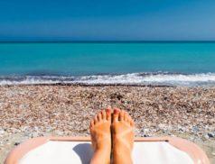 ноги, пляж