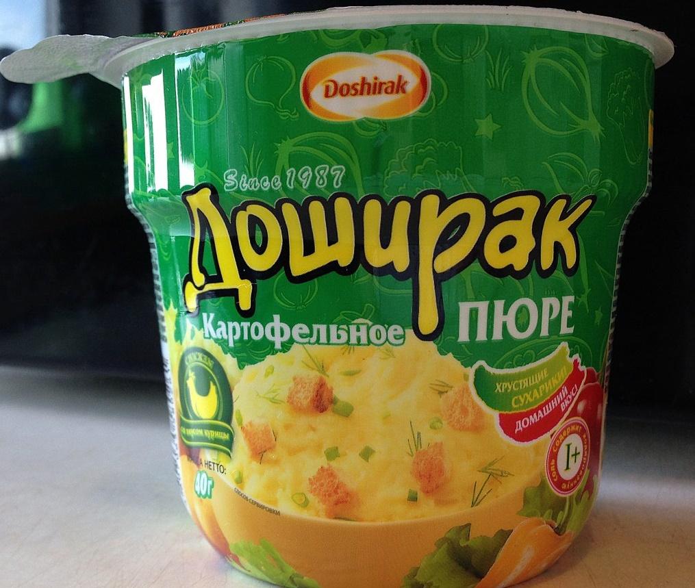 Доширак картофельное пюре
