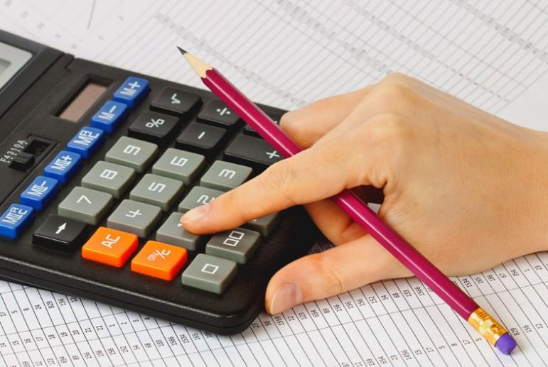 бумаги , калькулятор, карандаш