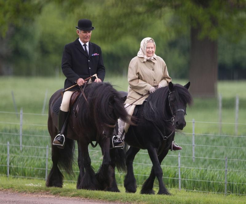 королевская семья прогулка на лошадях