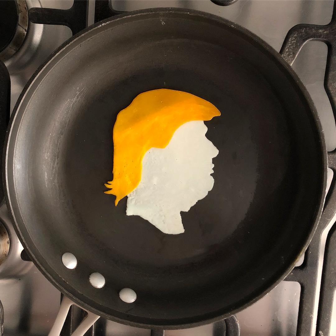 Трамп на сковороде Бальдини